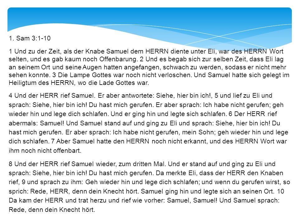 1. Sam 3:1-10