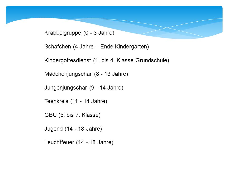 Krabbelgruppe (0 - 3 Jahre)