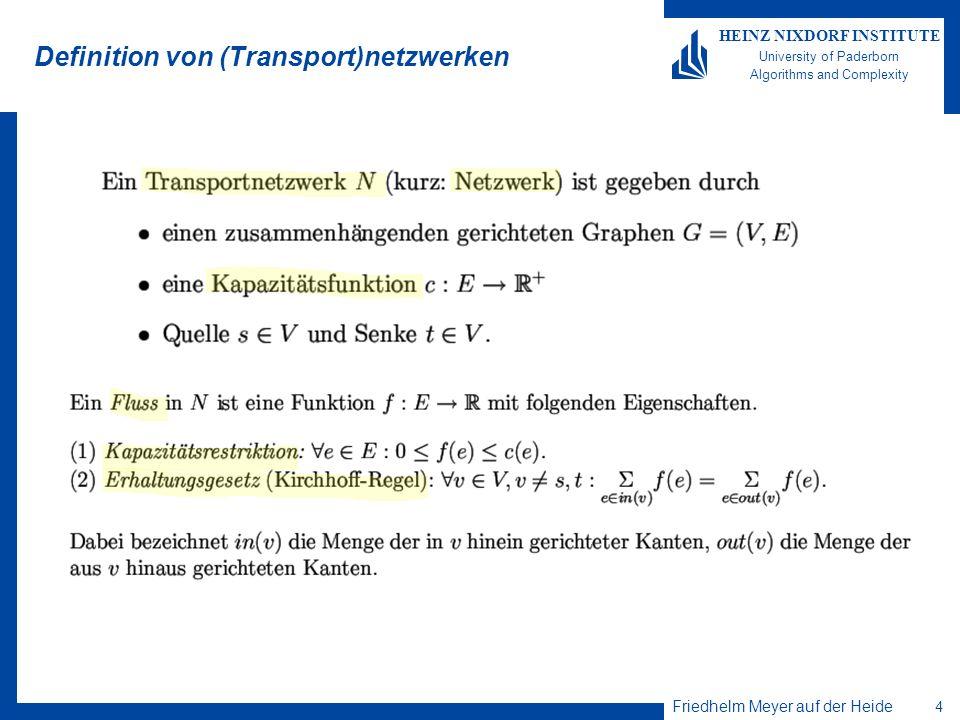 Definition von (Transport)netzwerken