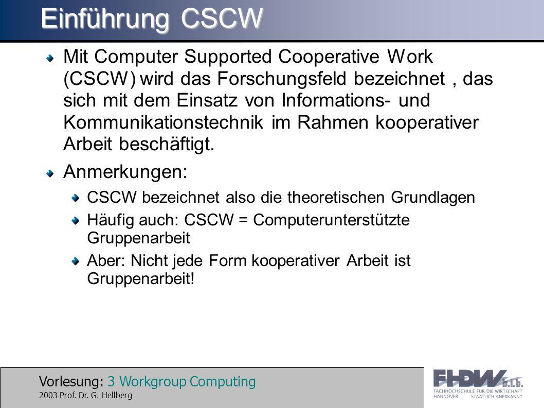 Einführung CSCW