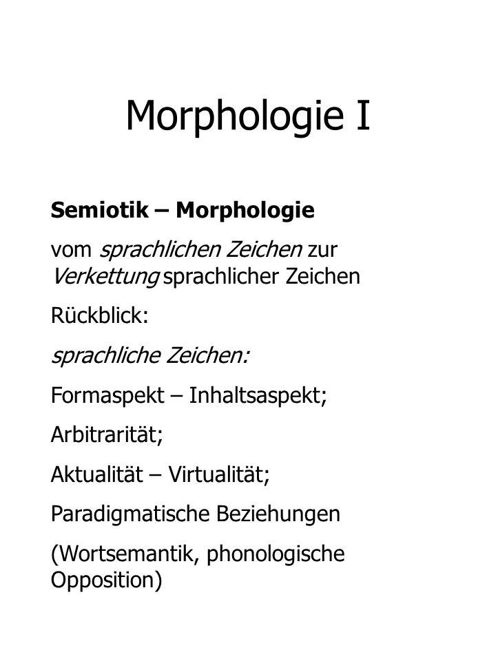 Morphologie I Semiotik – Morphologie