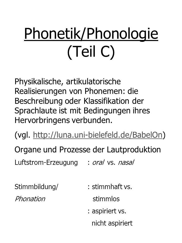 Phonetik/Phonologie (Teil C)