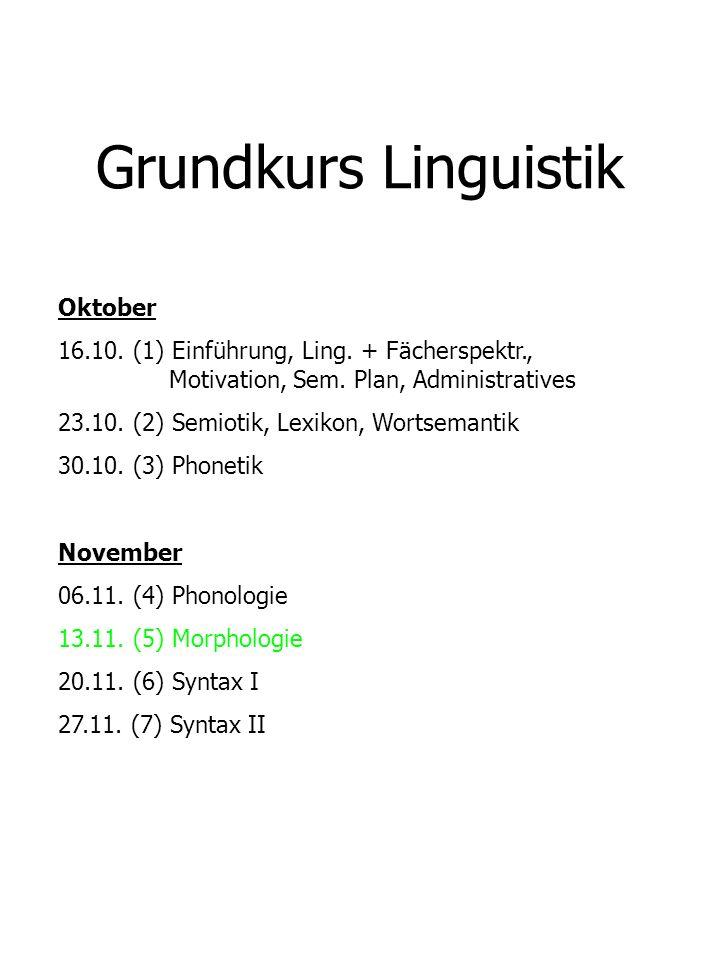 Grundkurs Linguistik Oktober