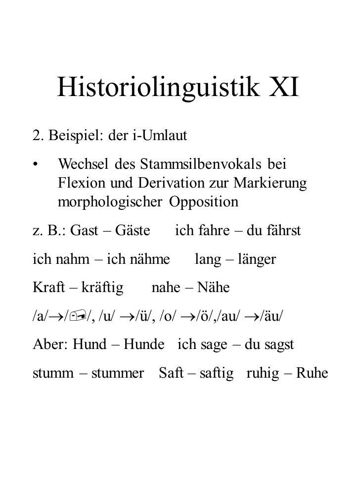 Historiolinguistik XI
