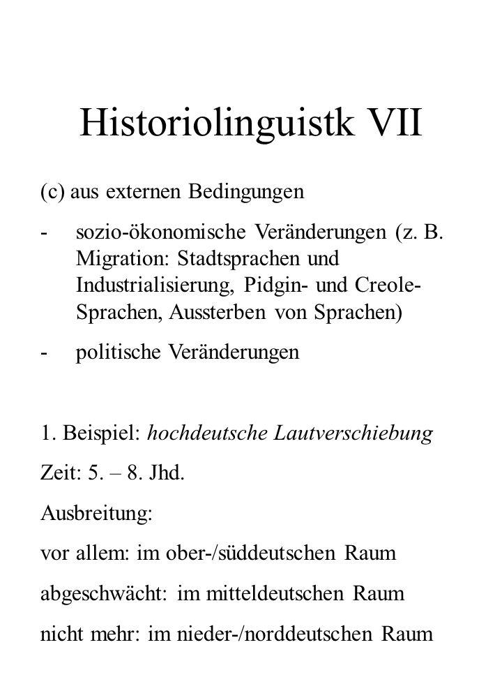 Historiolinguistk VII