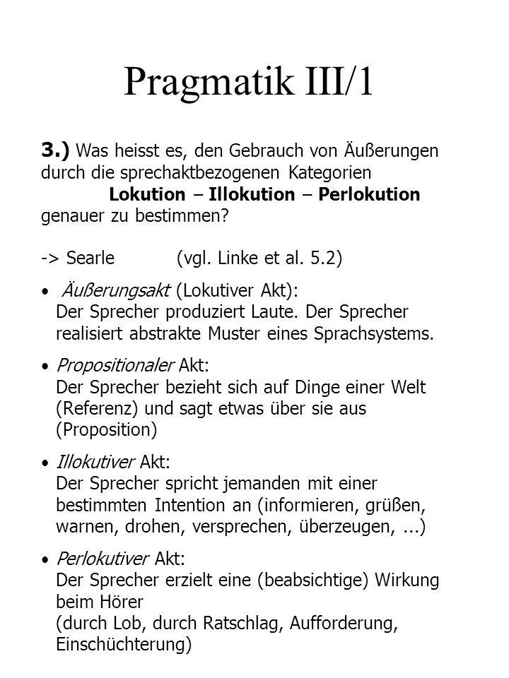 Pragmatik III/1