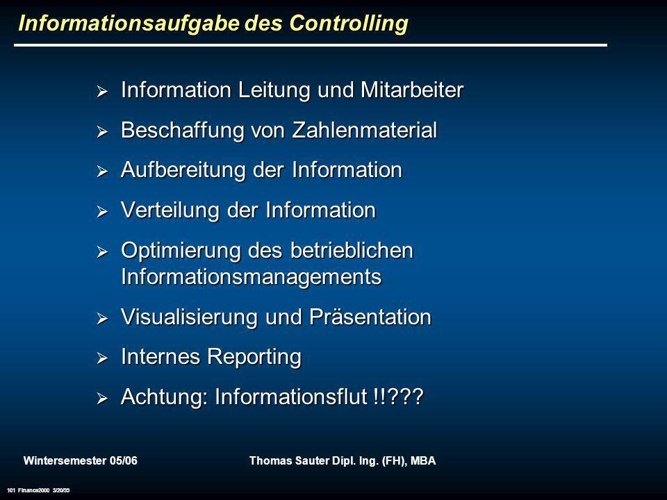 Informationsaufgabe des Controlling