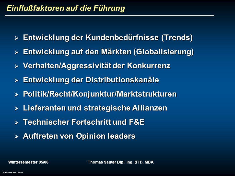 Einflußfaktoren auf die Führung