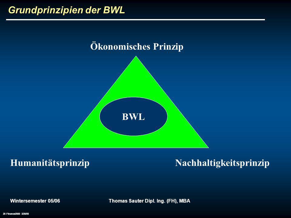 Grundprinzipien der BWL