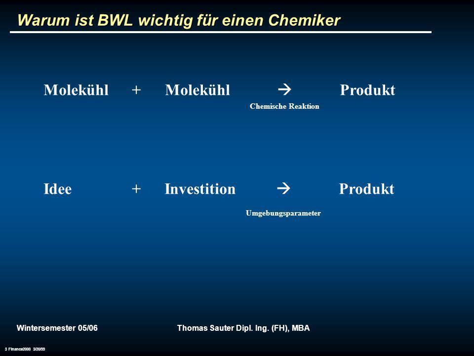 Warum ist BWL wichtig für einen Chemiker