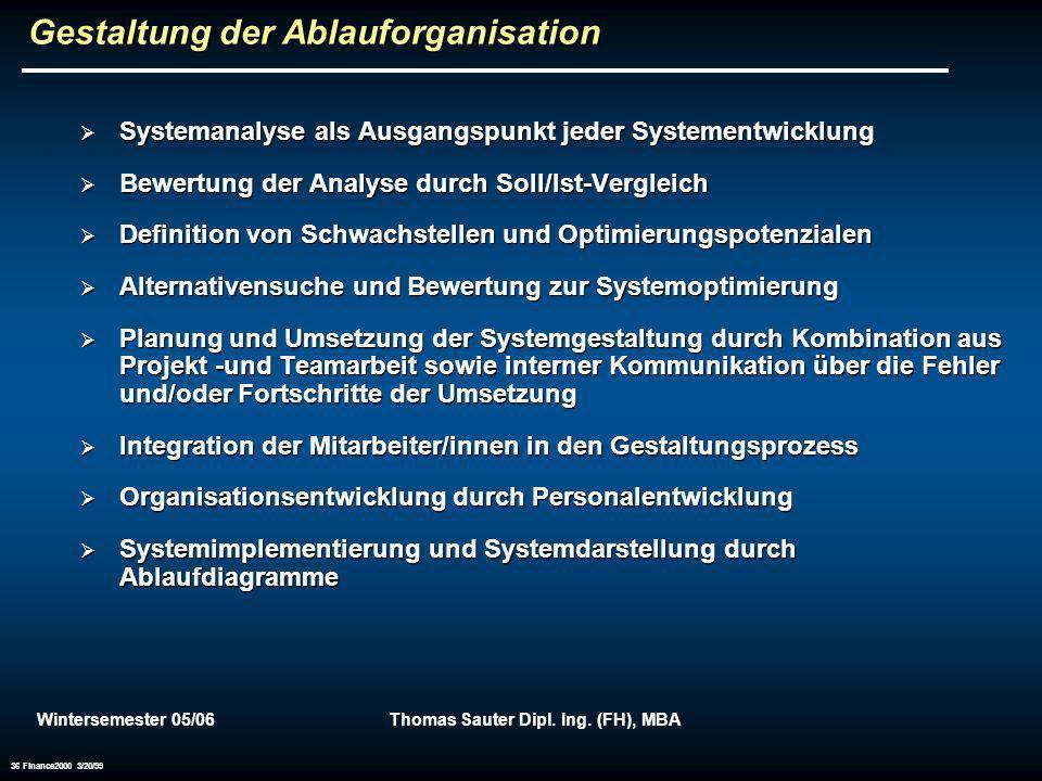 Gestaltung der Ablauforganisation