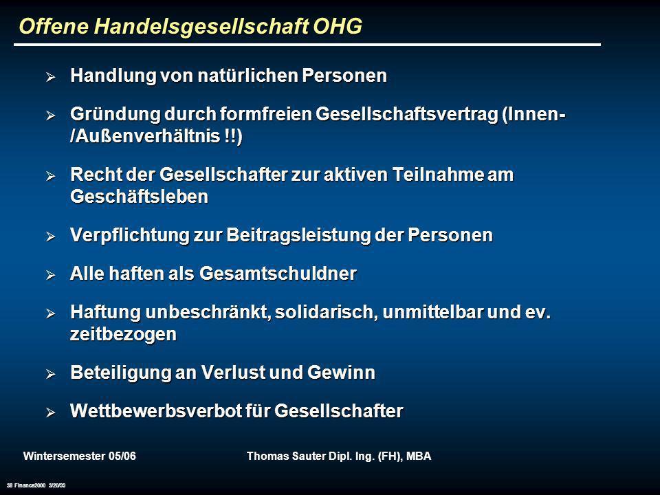 Offene Handelsgesellschaft OHG
