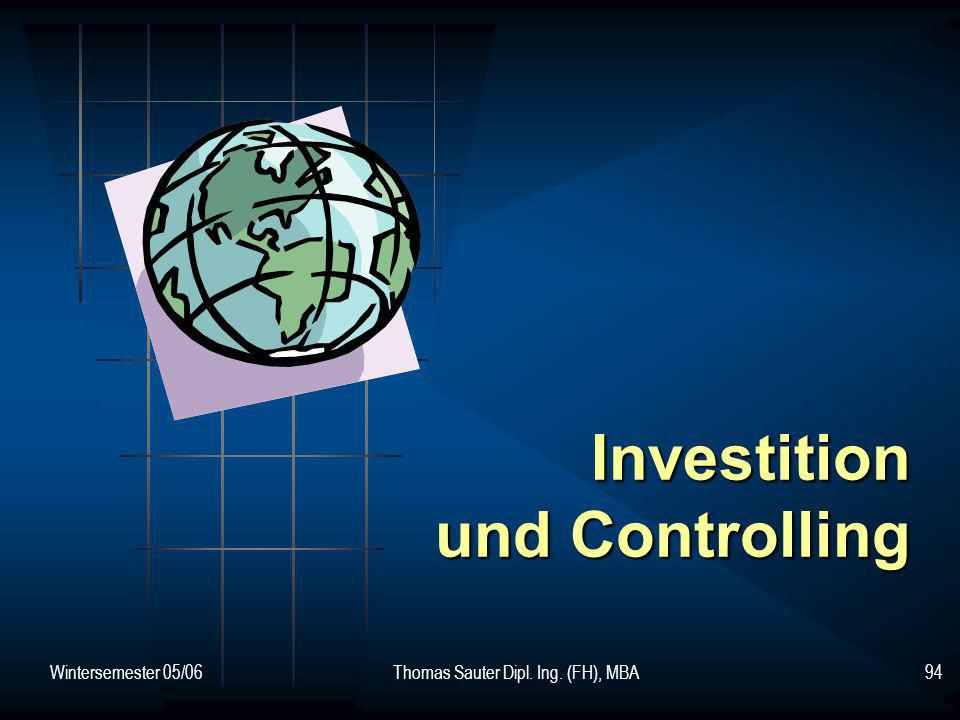 Investition und Controlling