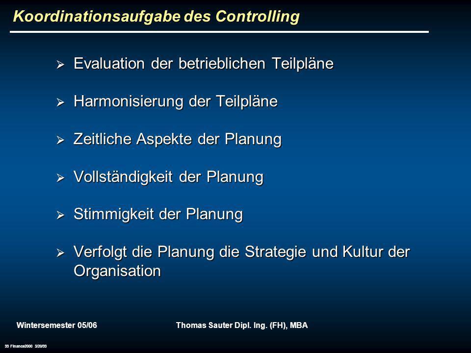 Koordinationsaufgabe des Controlling