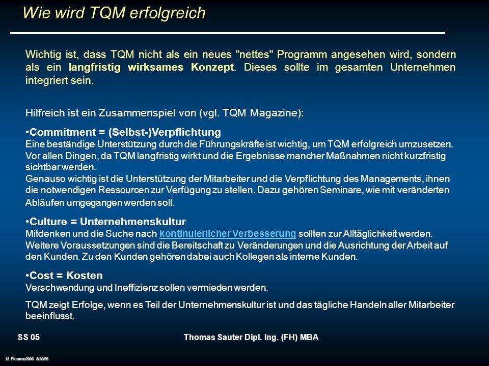 Wie wird TQM erfolgreich