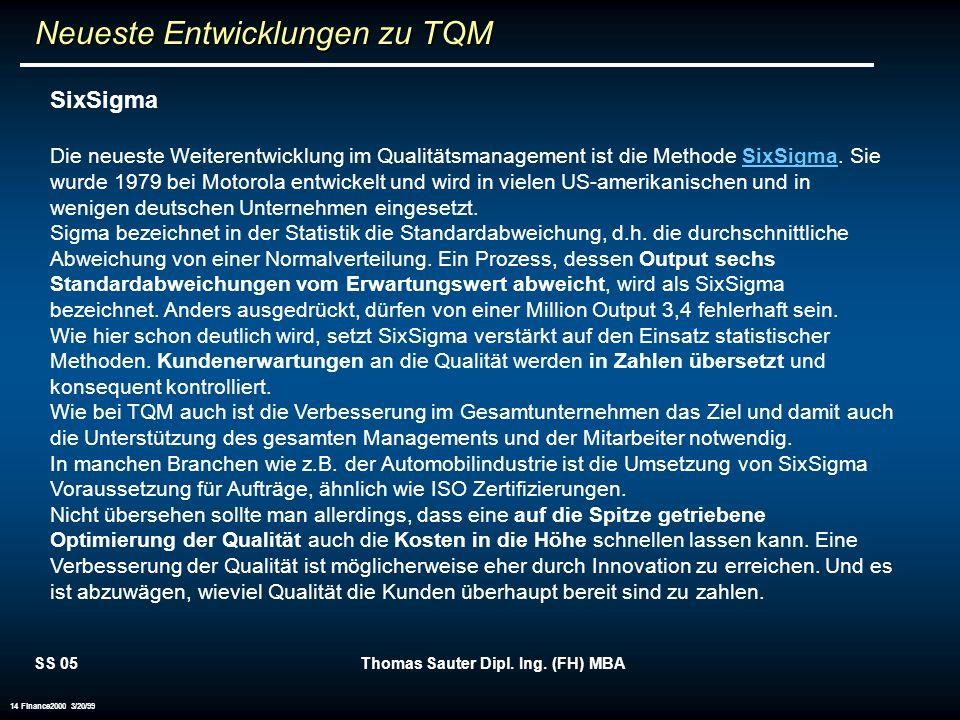 Neueste Entwicklungen zu TQM