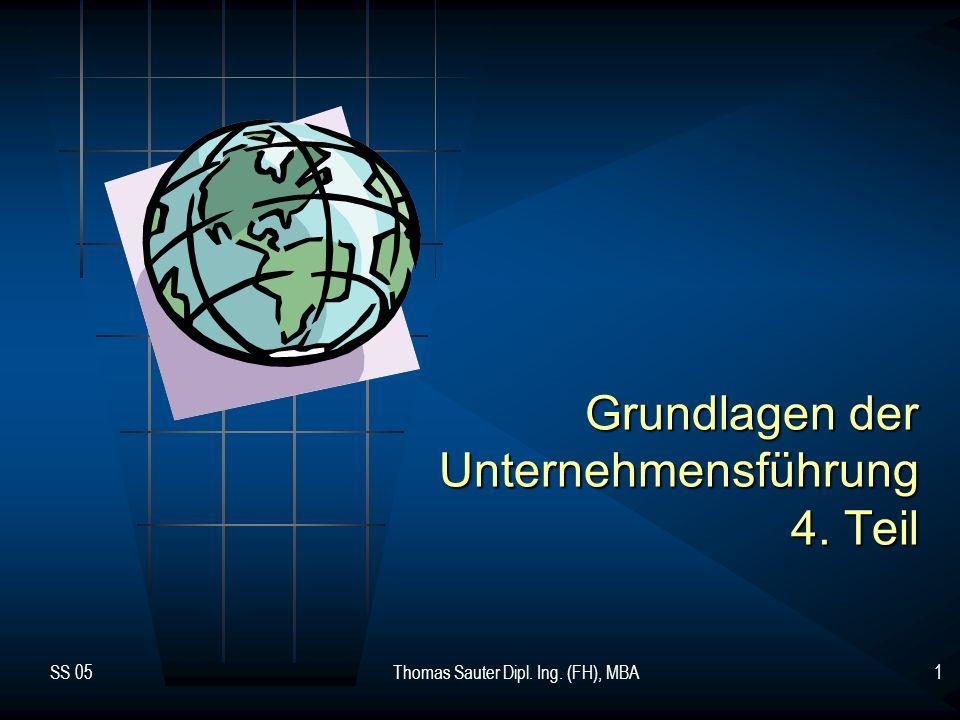 Grundlagen der Unternehmensführung 4. Teil