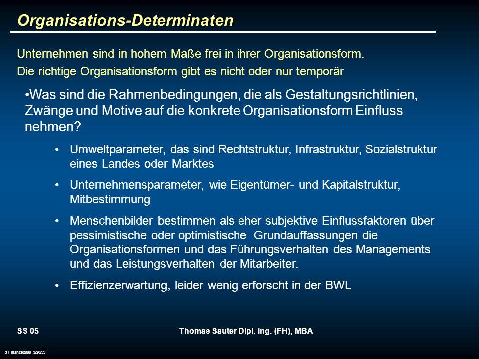Organisations-Determinaten