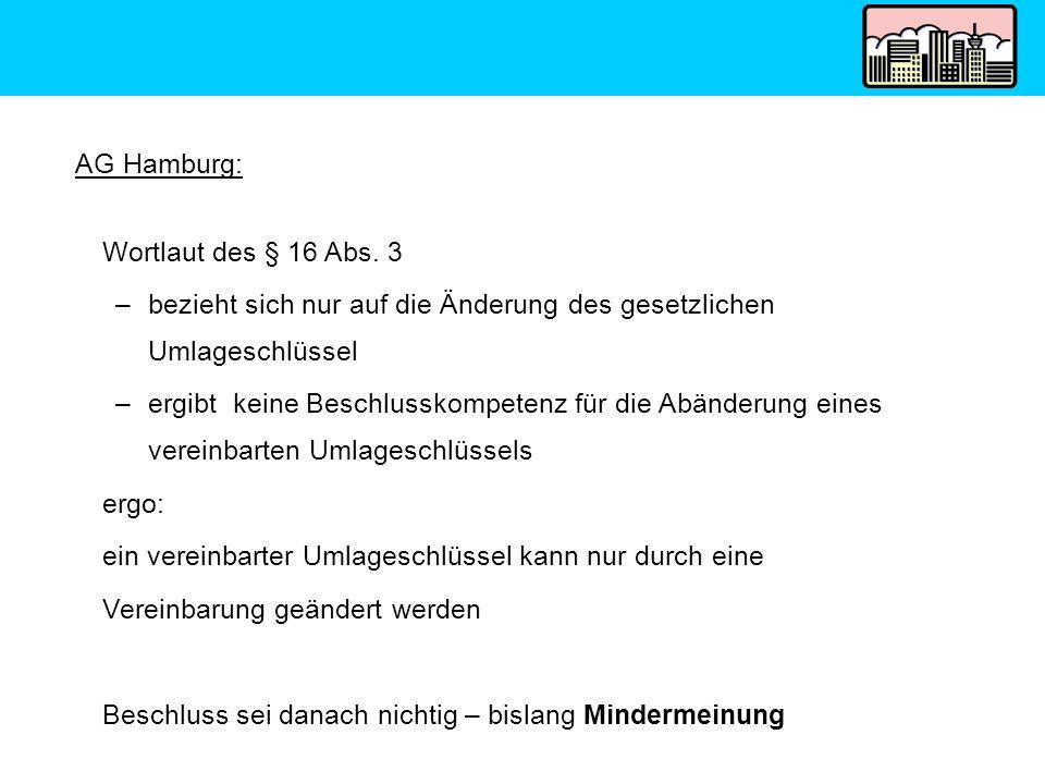 AG Hamburg: Wortlaut des § 16 Abs. 3