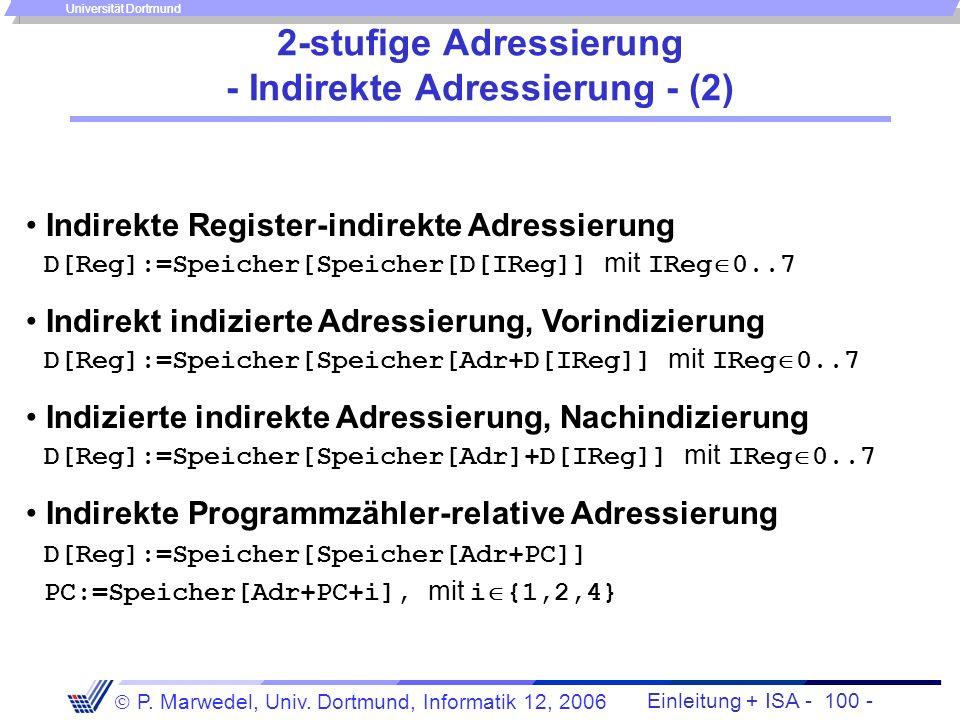 2-stufige Adressierung - Indirekte Adressierung - (2)