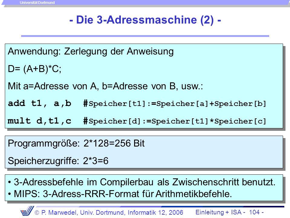 - Die 3-Adressmaschine (2) -