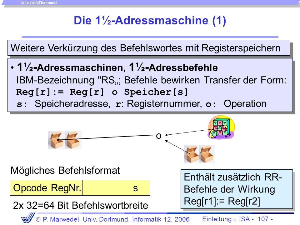 Die 1½-Adressmaschine (1)