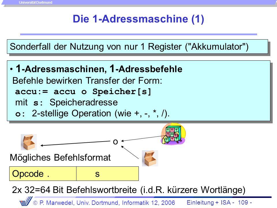 Die 1-Adressmaschine (1)