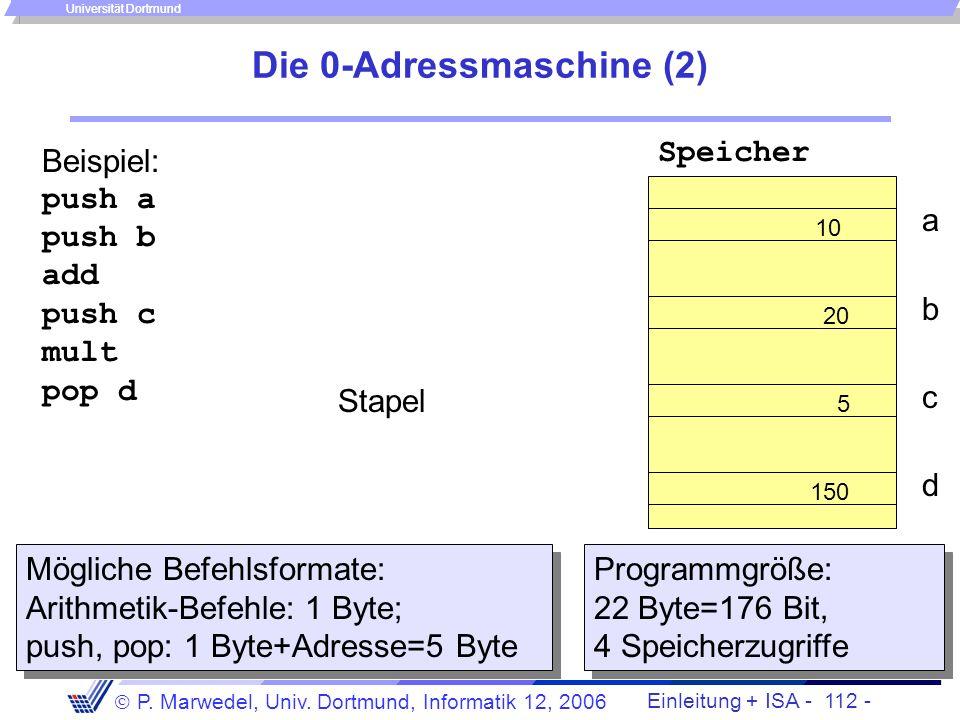 Die 0-Adressmaschine (2)