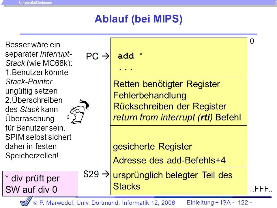 Ablauf (bei MIPS) PC  add * ...