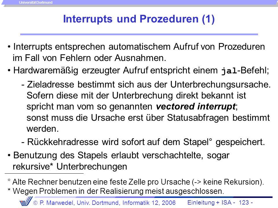 Interrupts und Prozeduren (1)