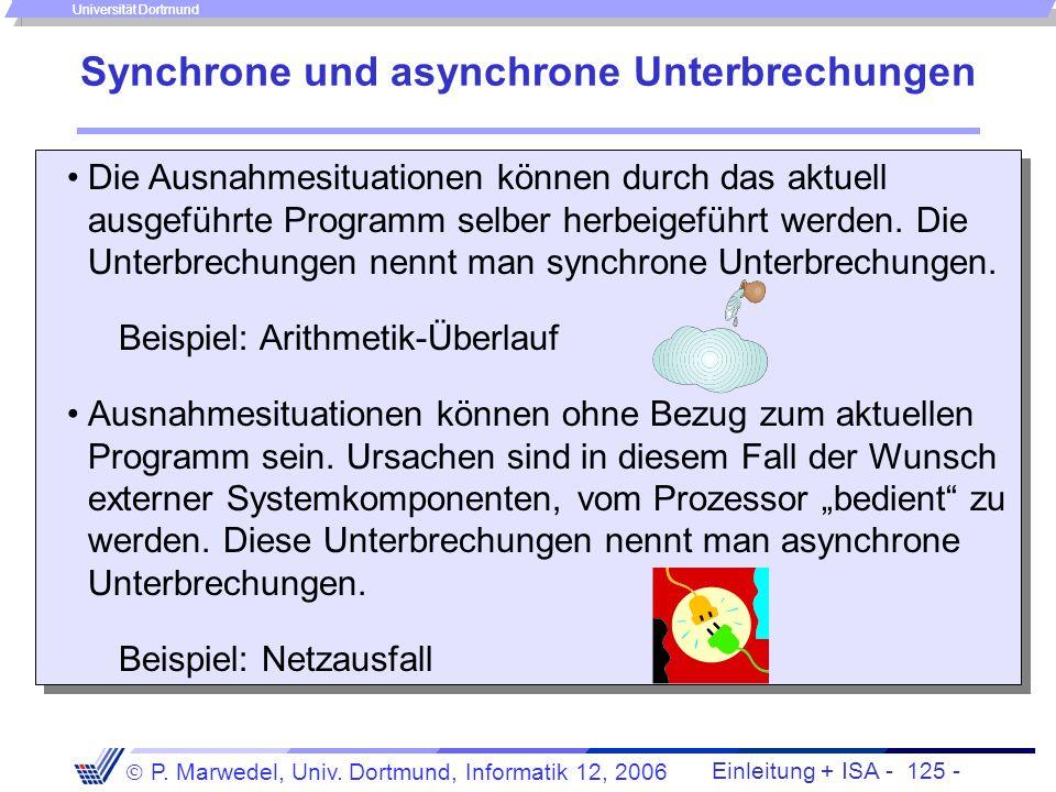 Synchrone und asynchrone Unterbrechungen