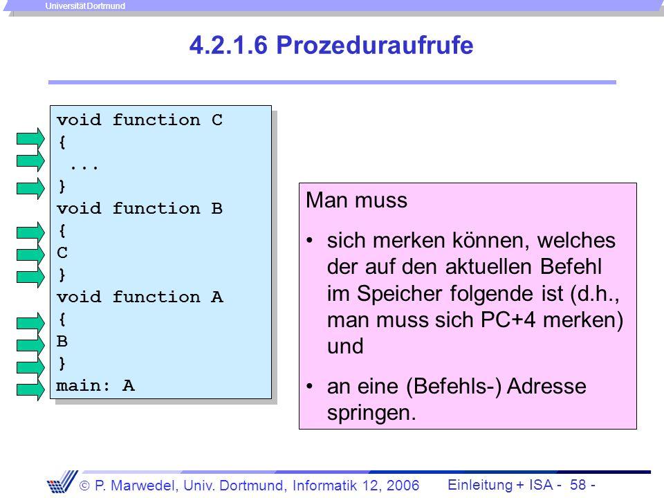 4.2.1.6 Prozeduraufrufe Man muss