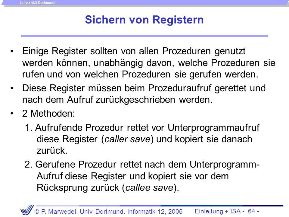 Sichern von Registern