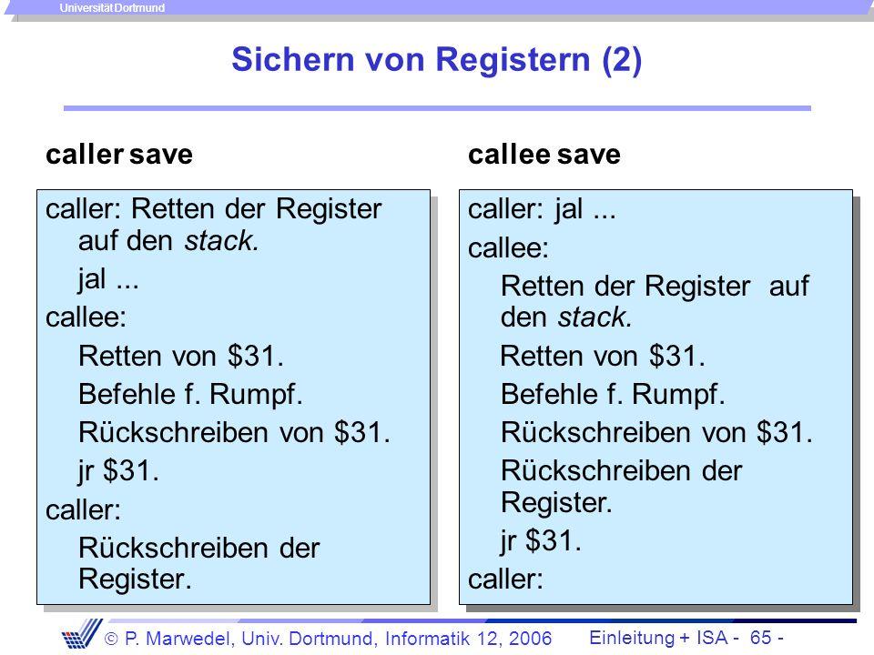 Sichern von Registern (2)
