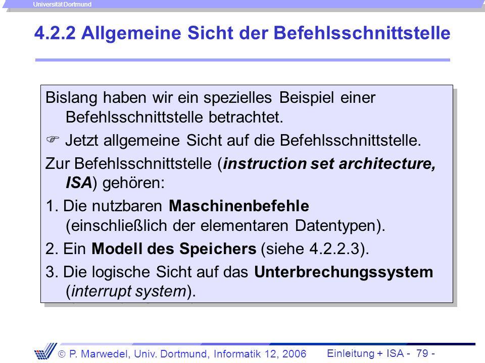 4.2.2 Allgemeine Sicht der Befehlsschnittstelle