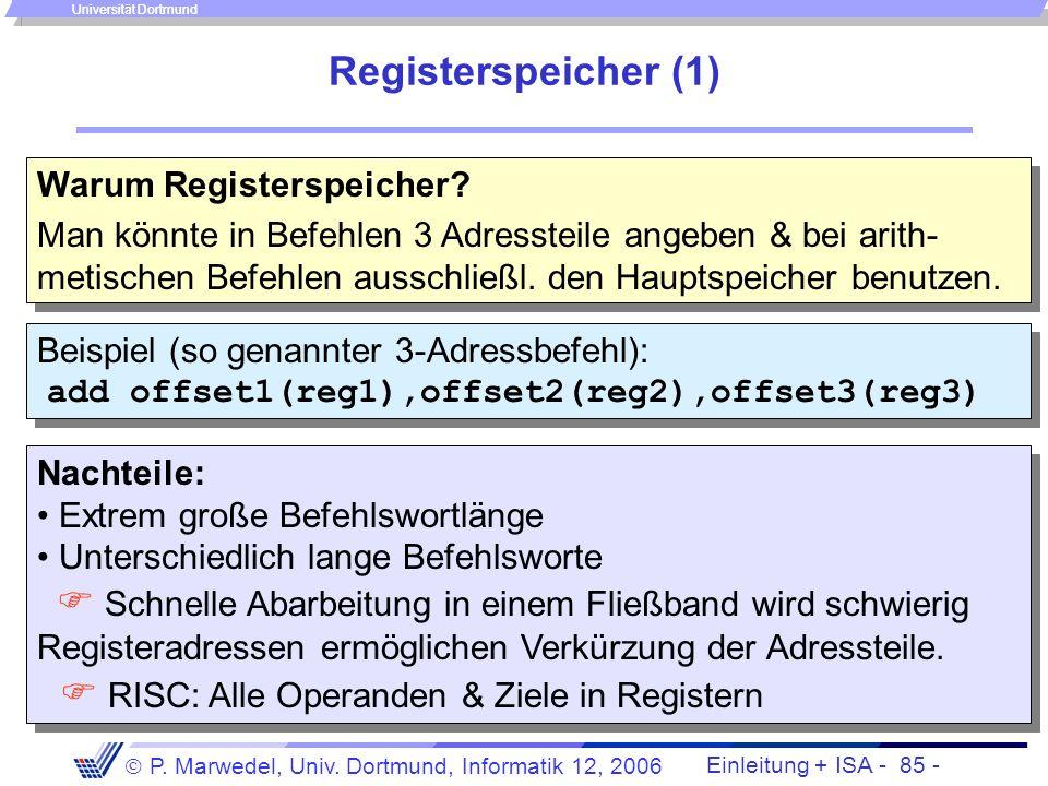  RISC: Alle Operanden & Ziele in Registern