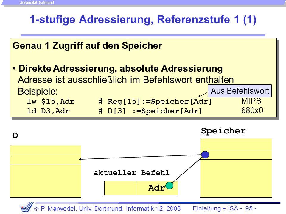 1-stufige Adressierung, Referenzstufe 1 (1)