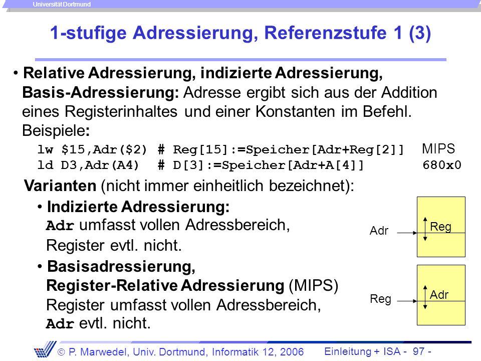 1-stufige Adressierung, Referenzstufe 1 (3)