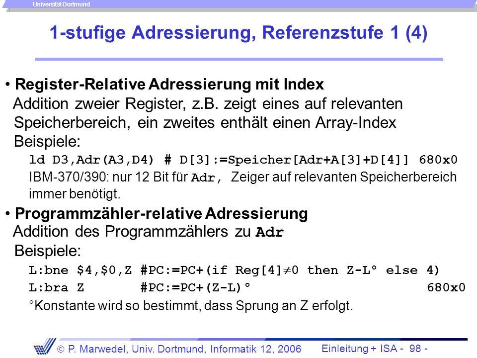 1-stufige Adressierung, Referenzstufe 1 (4)