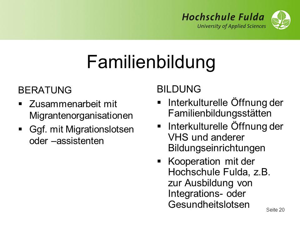 Familienbildung BILDUNG