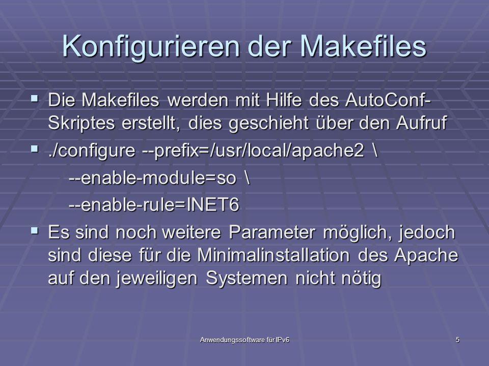 Konfigurieren der Makefiles