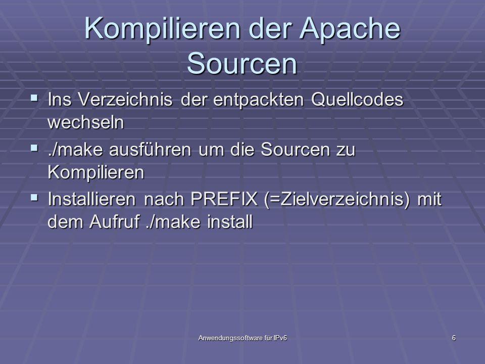 Kompilieren der Apache Sourcen