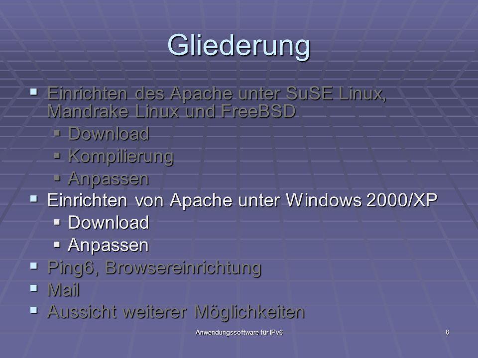 Anwendungssoftware für IPv6