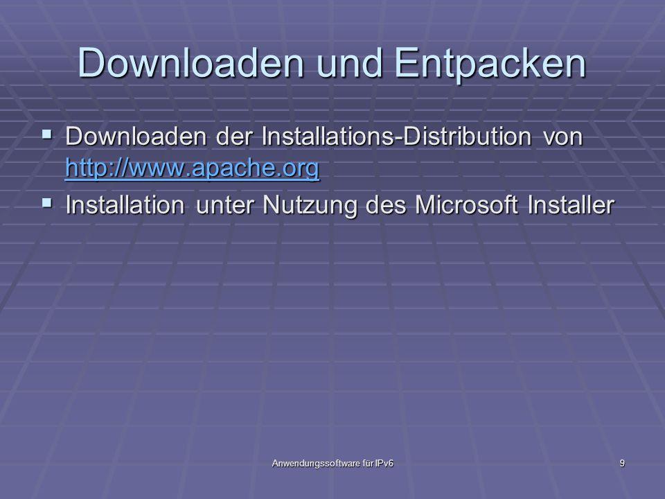 Downloaden und Entpacken