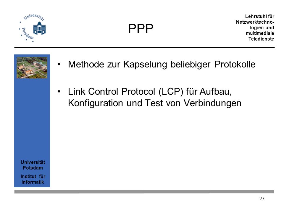 PPP Methode zur Kapselung beliebiger Protokolle