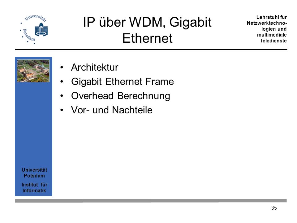 IP über WDM, Gigabit Ethernet