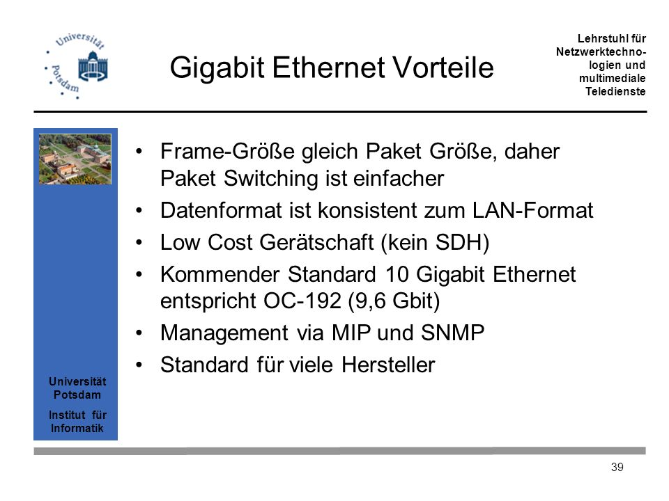 Gigabit Ethernet Vorteile