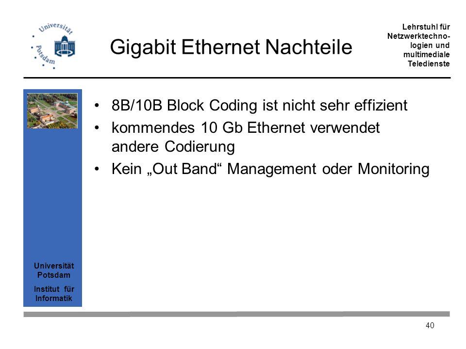 Gigabit Ethernet Nachteile