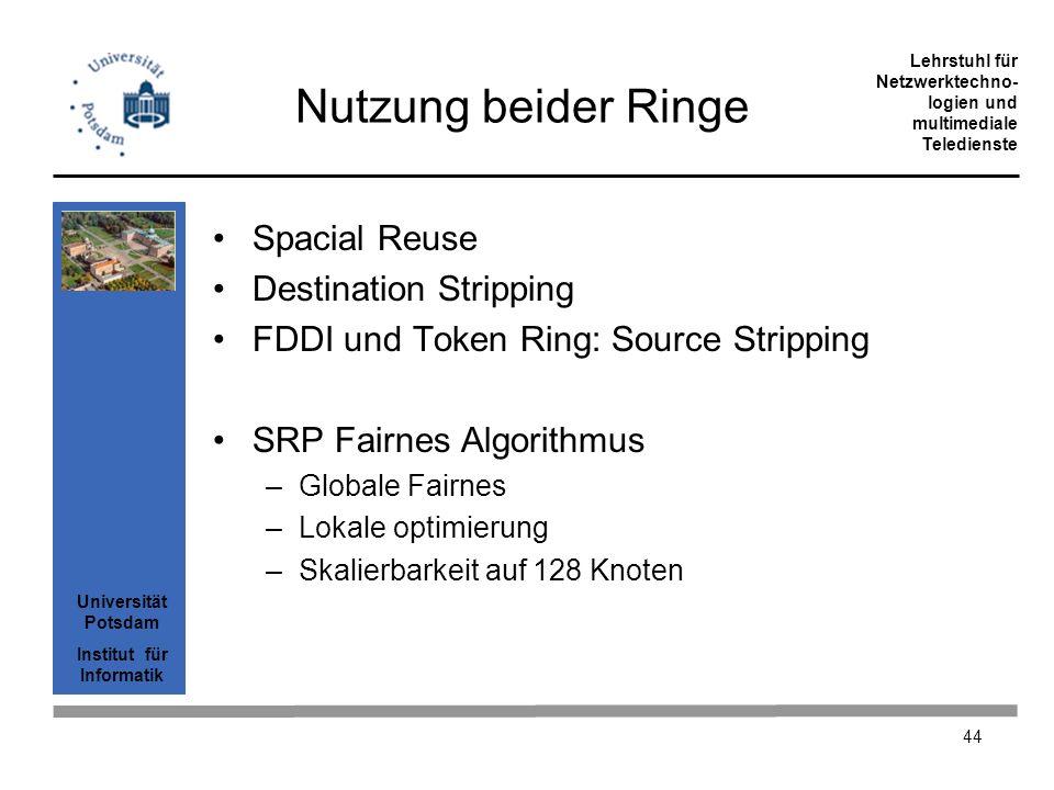Nutzung beider Ringe Spacial Reuse Destination Stripping