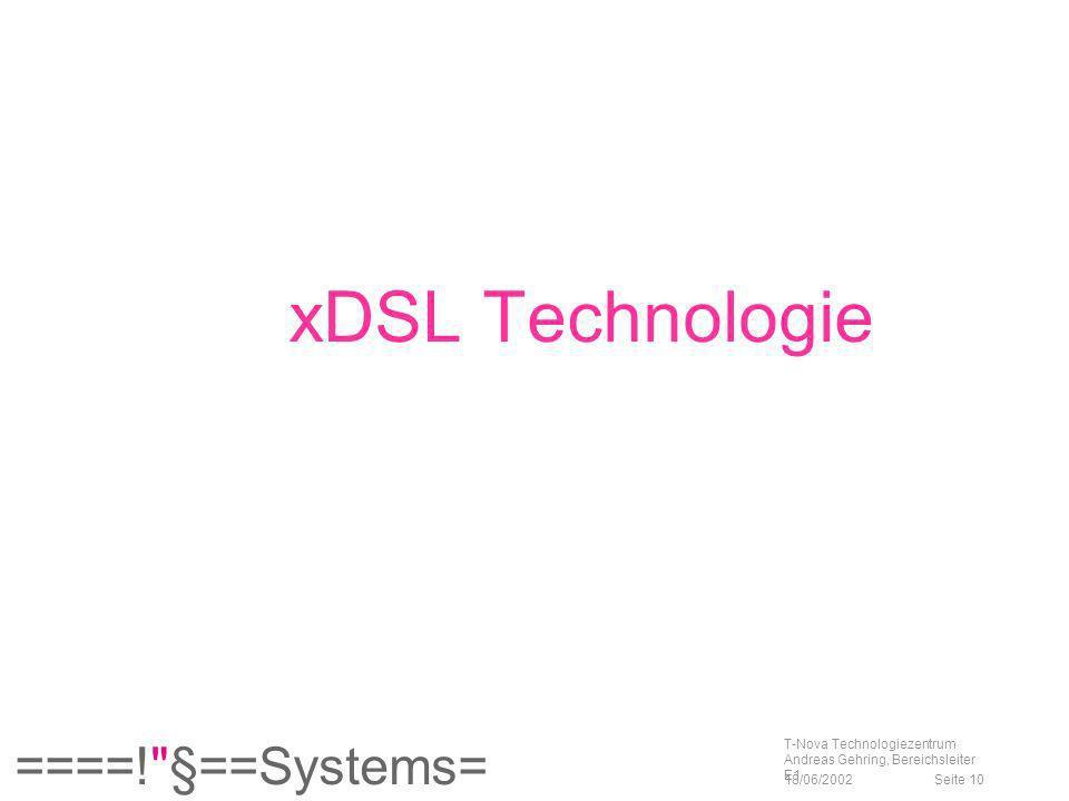 xDSL Technologie T-Nova Technologiezentrum